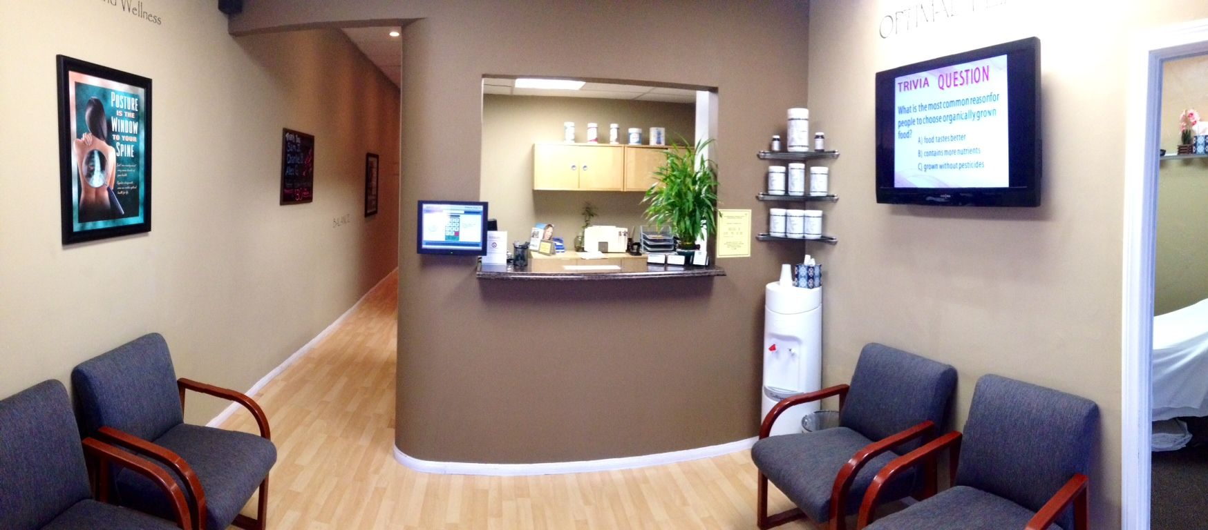 San Diego Chiropractic and Massage Front Desk area